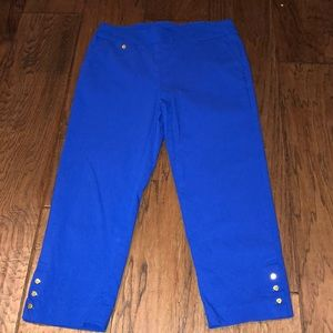 Royal blue capris